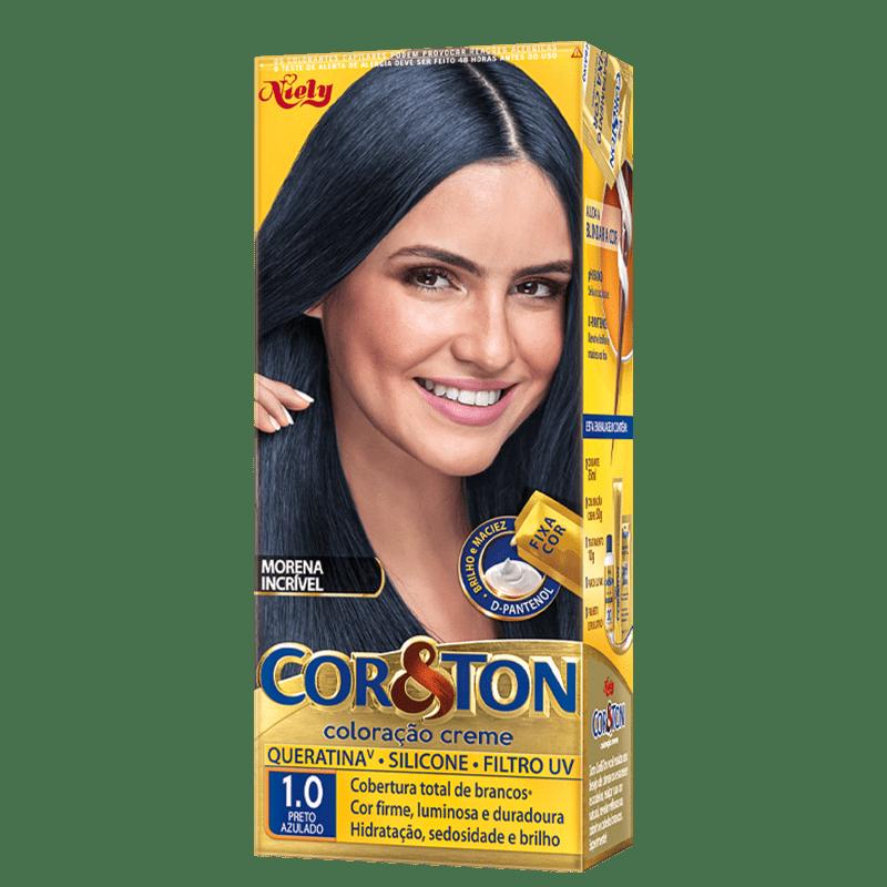 Niely Cosméticos Cor & Ton 1.0 Preto Azulado - Coloração Permanente