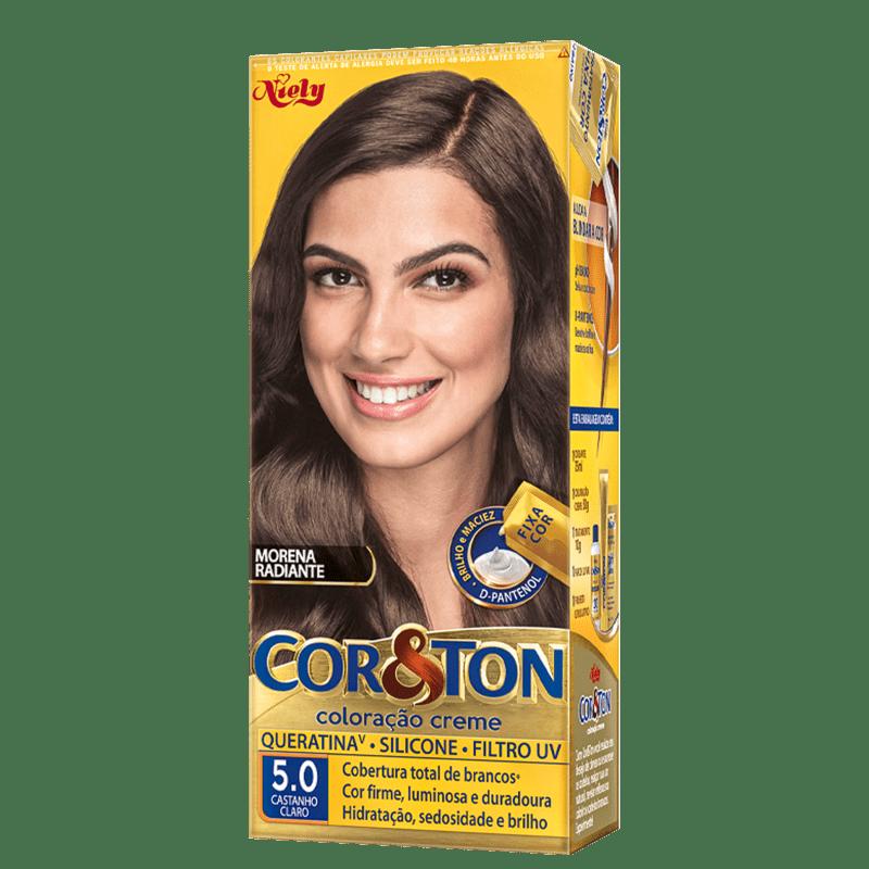 Niely Cosméticos Cor & Ton 5.0 Castanho Claro - Coloração Permanente