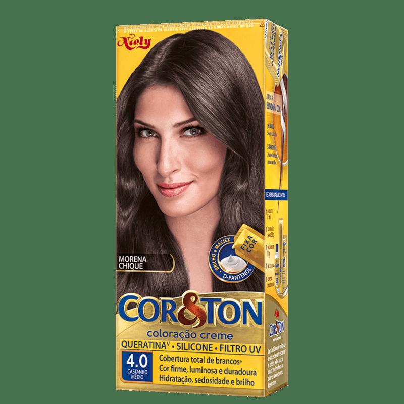Niely Cosméticos Cor & Ton 4.0 Castanho Médio - Coloração Permanente