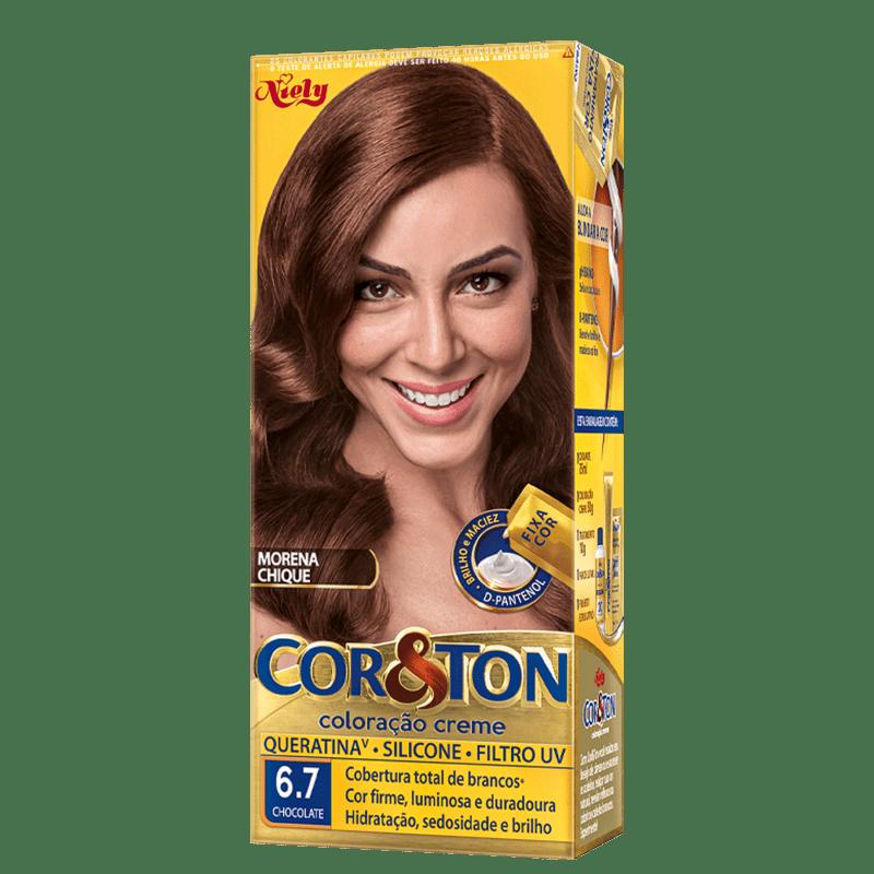 Niely Cosméticos Cor & Ton 6.7 Chocolate - Coloração Permanente