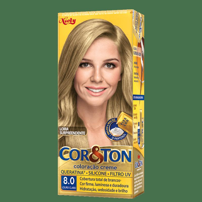 Niely Cosméticos Cor & Ton 8.0 Louro Claro - Coloração Permanente