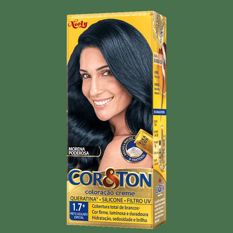 Niely Cosméticos Cor & Ton 1.7 Preto Azulado Especial - Coloração Permanente