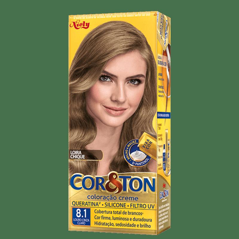 Niely Cosméticos Cor & Ton 8.1 Louro Cinza Claro - Coloração Permanente