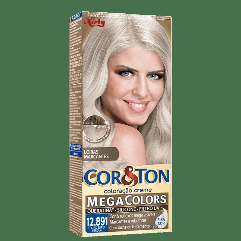 Niely Cosméticos Cor & Ton 12.891 Louro Super Pérola - Coloração Permanente