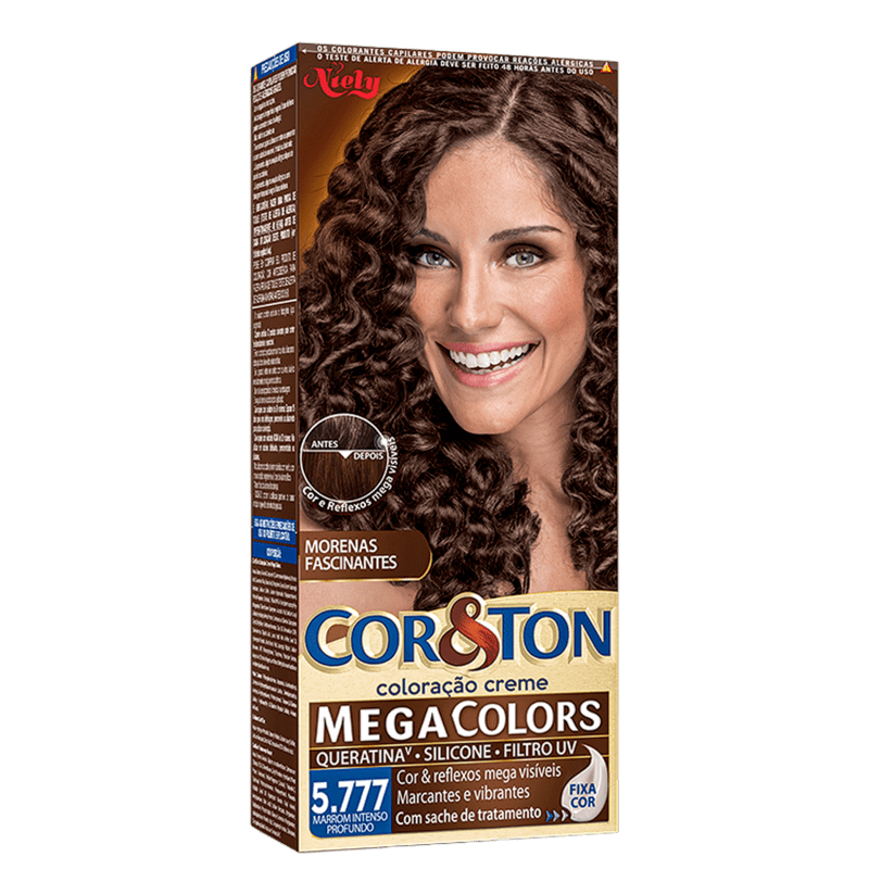 Niely Cosméticos Cor & Ton 5.777 Marrom Intenso Profundo - Coloração Permanente