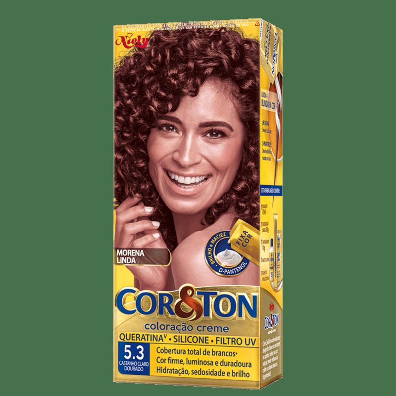 Niely Cosméticos Cor & Ton 5.3 Castanho Claro Dourado - Coloração Permanente