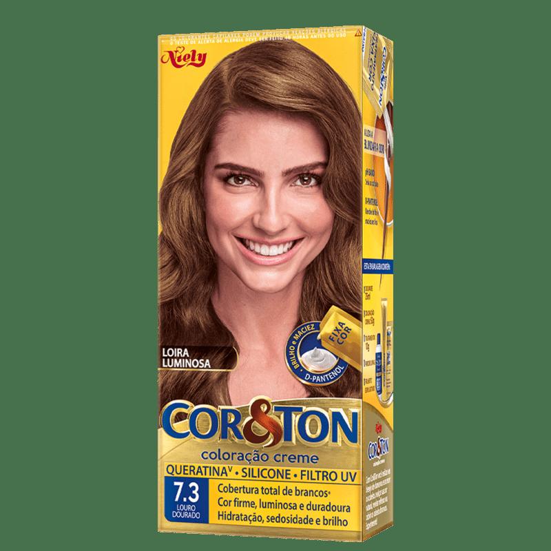 Niely Cosméticos Cor & Ton 7.3 Louro Dourado - Coloração Permanente