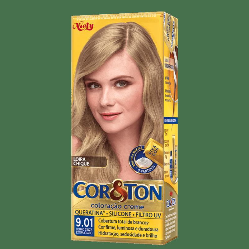 Niely Cosméticos Cor & Ton 9.01 Louro Cinza Extra Claro - Coloração Permanente