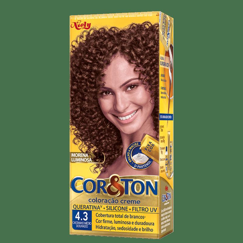 Niely Cosméticos Cor & Ton 4.3 Castanho Médio Dourado - Coloração Permanente