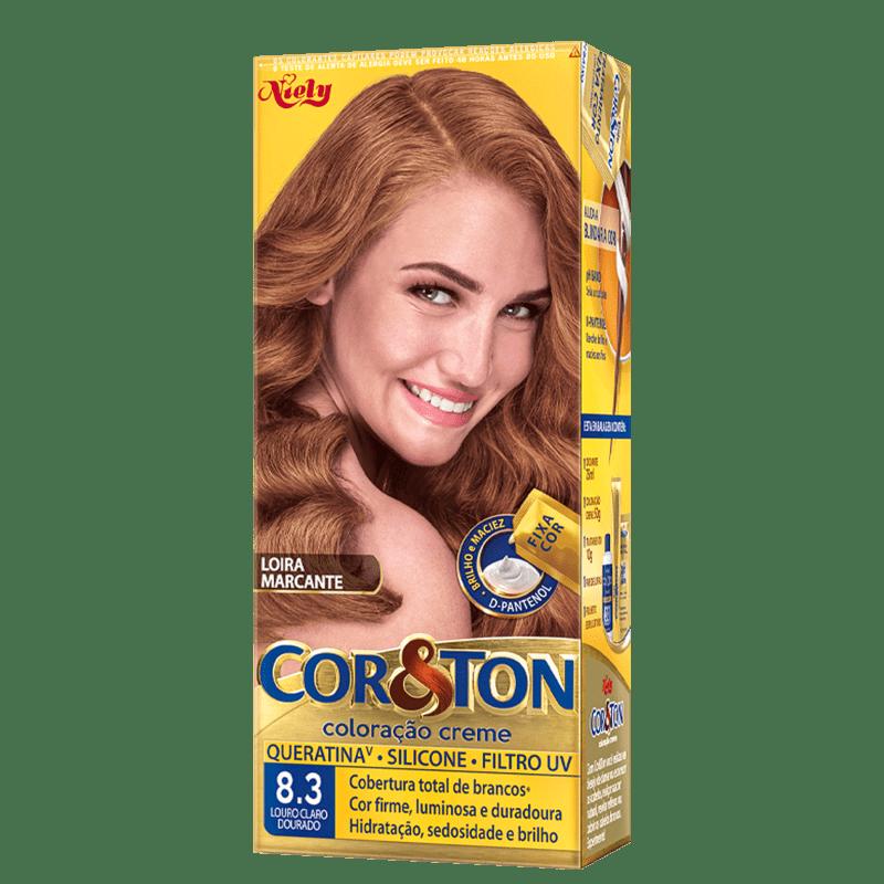 Niely Cosméticos Cor & Ton 8.3 Louro Claro Dourado - Coloração Permanente