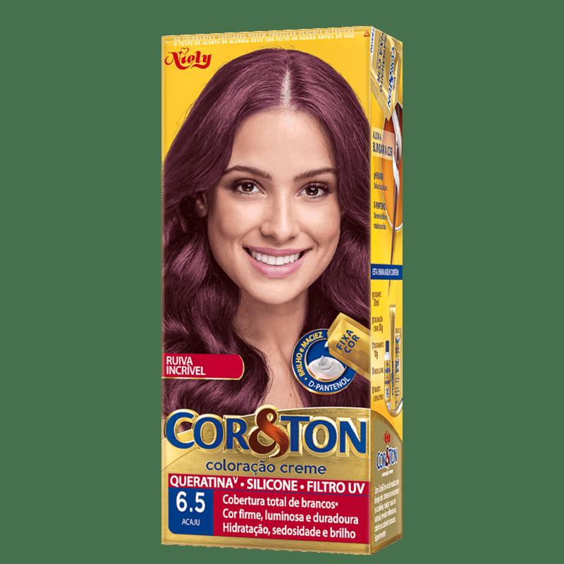 Niely Cosméticos Cor & Ton 6.5 Acaju - Coloração Permanente