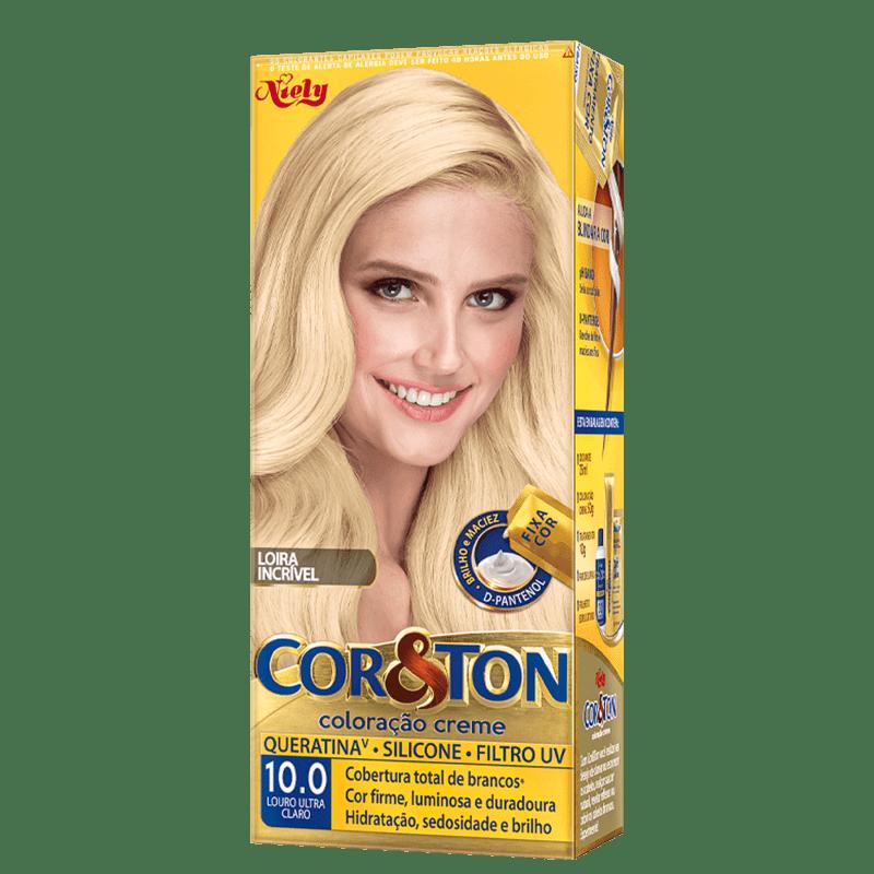 Niely Cosméticos Cor & Ton 10.0 Louro Ultra Claro - Coloração Permanente