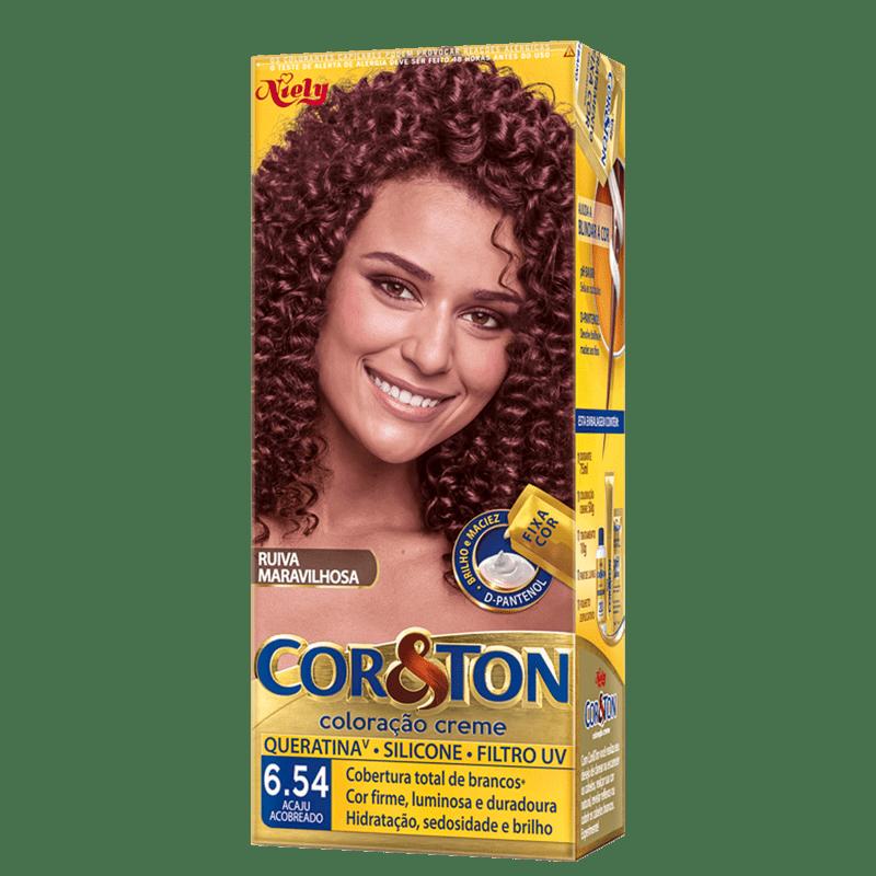 Niely Cosméticos Cor & Ton 6.54 Acaju Acobreado - Coloração Permanente
