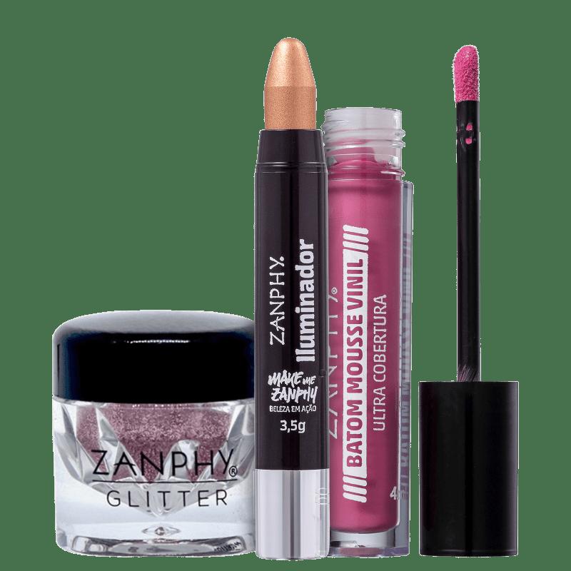 Kit Zanphy Pink Iluminado (3 Produtos)