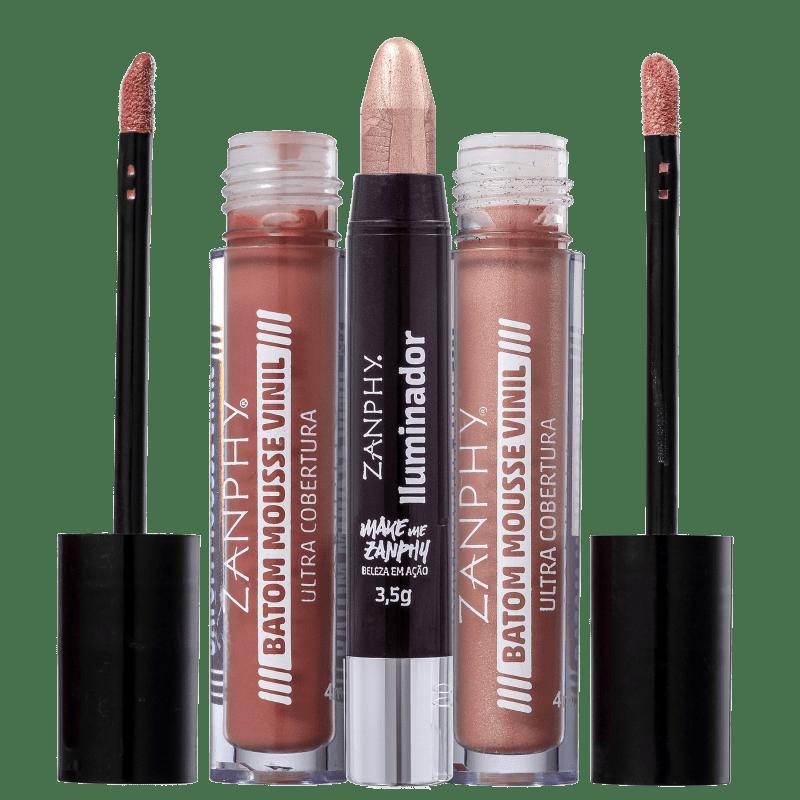 Kit Zanphy Lips & Glow (3 produtos)