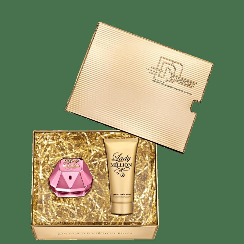 Conjunto Lady Million Empire Paco Rabanne Feminino - Eau de Parfum 80ml + Loção Corporal 100ml