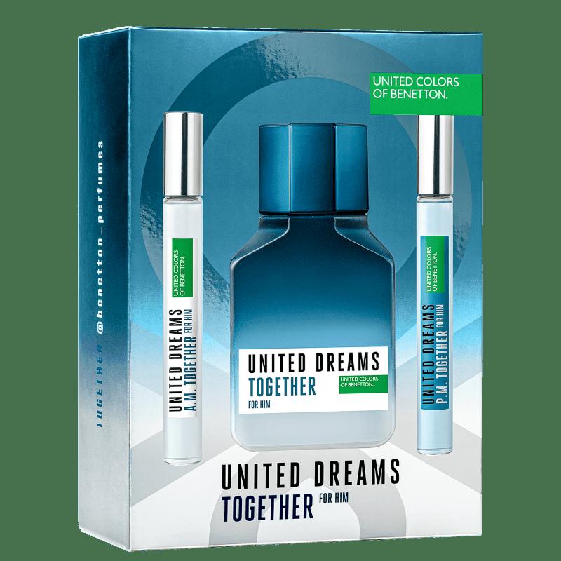 Conjunto United Dreams Together Benetton - Eau de Toilette 100ml + Booster Diurno 10ml + Booster Noturno 10ml