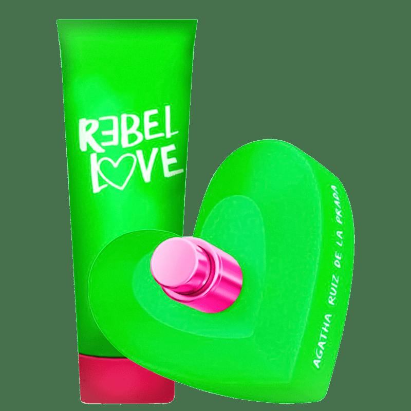 Conjunto Rebel Love Agatha Ruiz de La Prada Feminino - Eau de Toilette 80ml + Loção Corporal 75ml