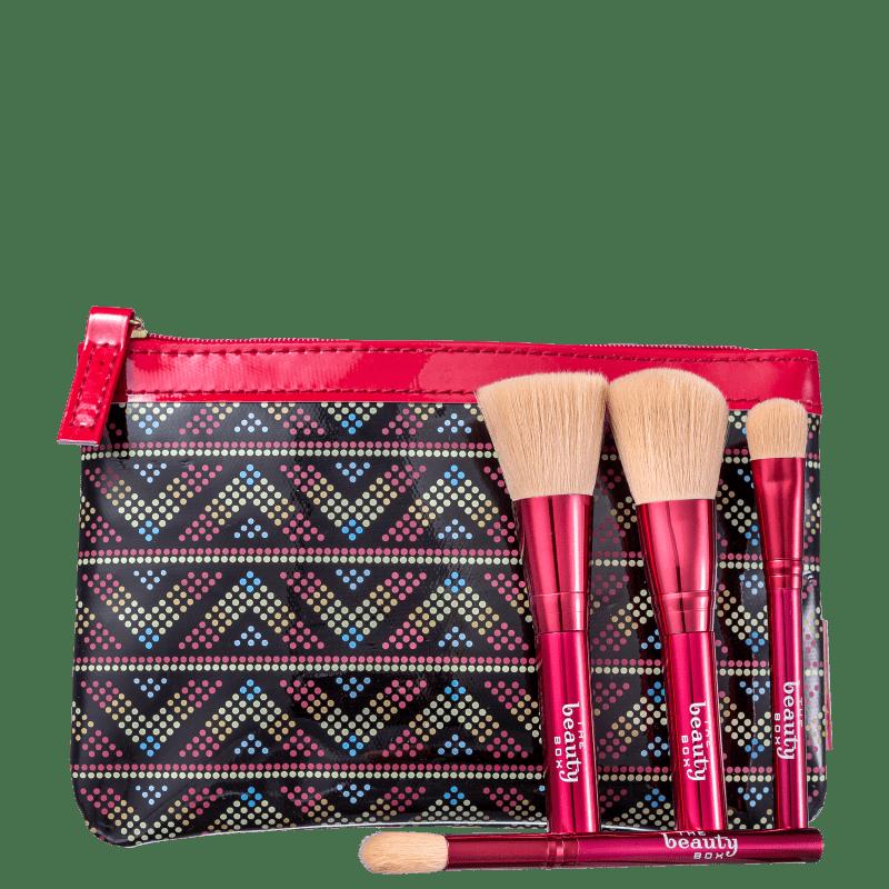 Kit Beautybox Mini Pincéis Tribal Trend Afrik (5 Produtos)