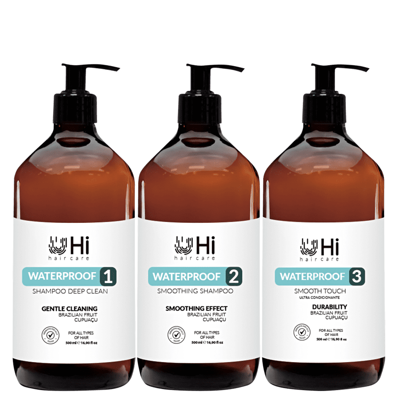 Kit Hi Hair Care Waterproof 3 Passos (3 Produtos)