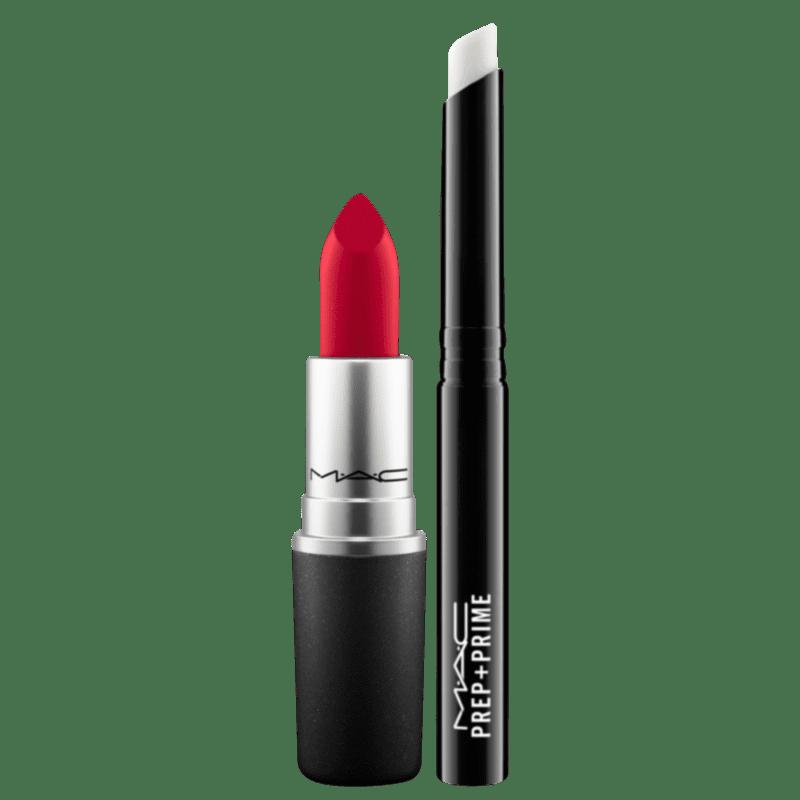 Kit M·A·C Ruby Woo Lips (2 Produtos)