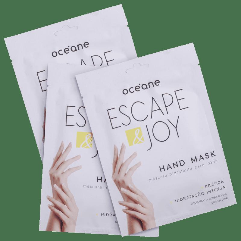 Kit Océane Escape & Joy - Máscara para as Mãos 3x0,14g