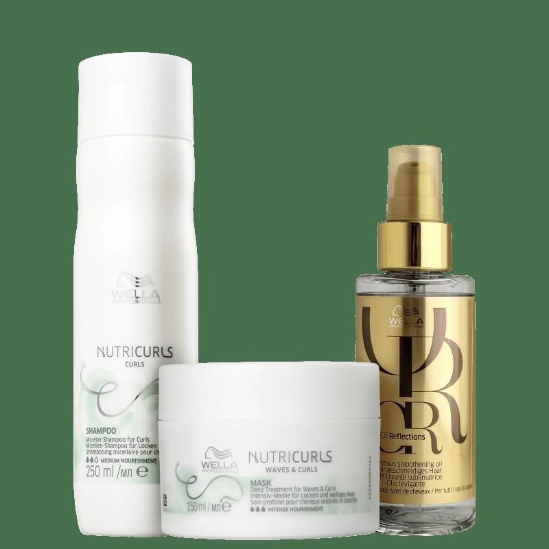 Kit Wella Professionals Nutricurls & Oil Reflections (3 Produtos)