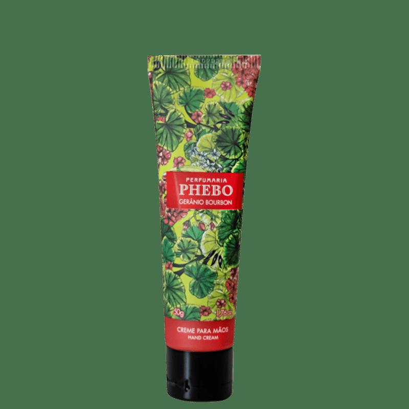 Phebo Gerânio Bourbon - Creme Hidratante para as Mãos 50g