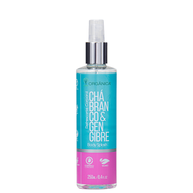 Body Spray Chá Branco e Gengibre Orgânica Feminino 250ml