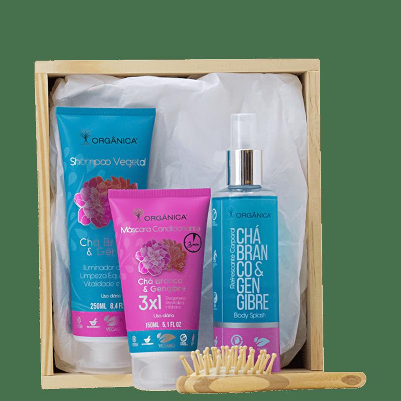 Kit Orgânica Shower Chá Branco & Gengibre (4 produtos)