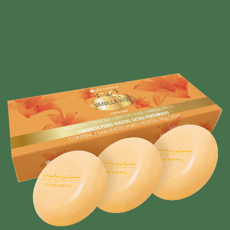 Kit Phytoderm Phyto Vanilla Kiss - Sabonete em Barra 3x90g