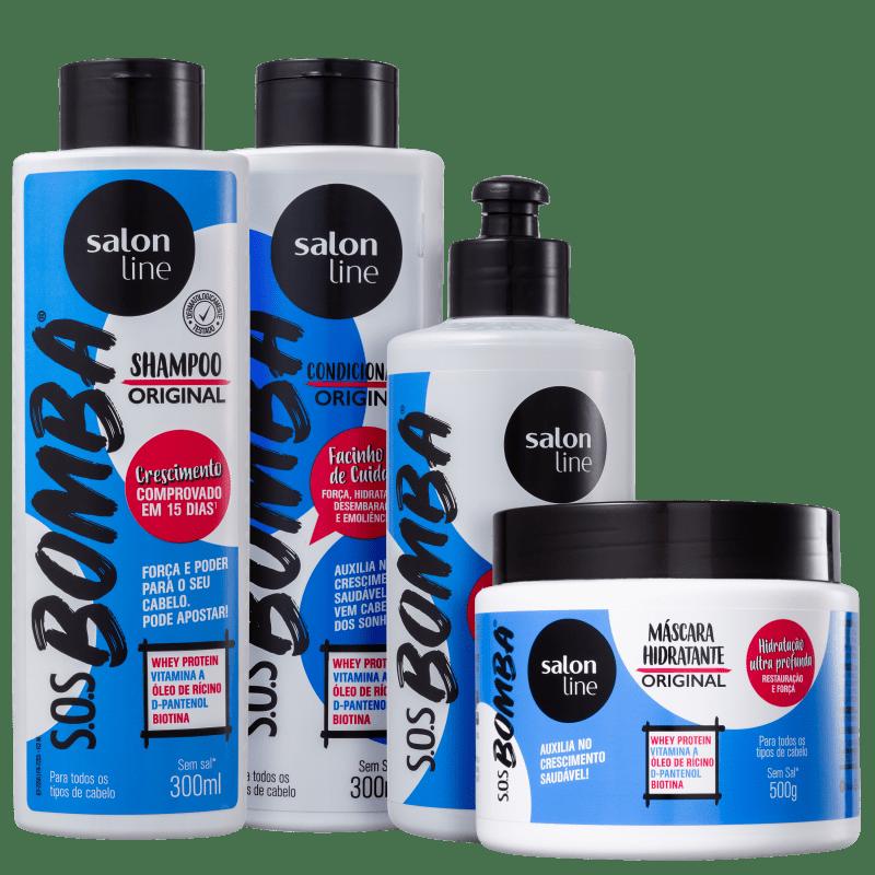 Kit Salon Line S.O.S. Bomba Original Full (4 Produtos)