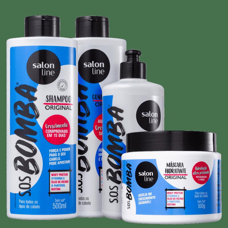 Kit Salon Line S.O.S. Bomba Original Plus Full (4 Produtos)