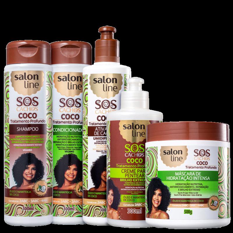Kit Salon Line S.O.S Cachos Coco Full (5 Produtos)