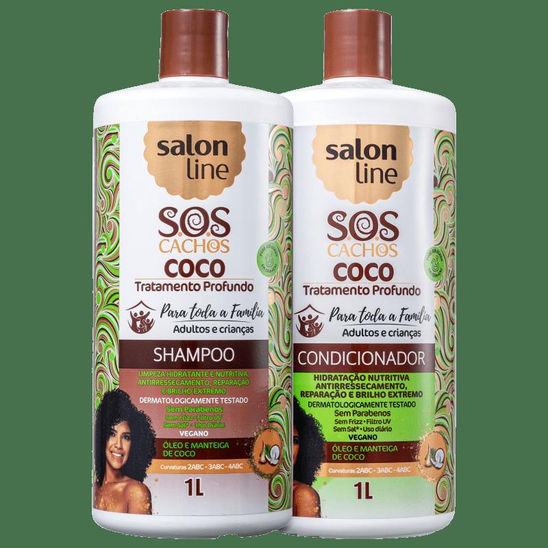 Kit Salon Line S.O.S Cachos Coco Salon Duo (2 Produtos)