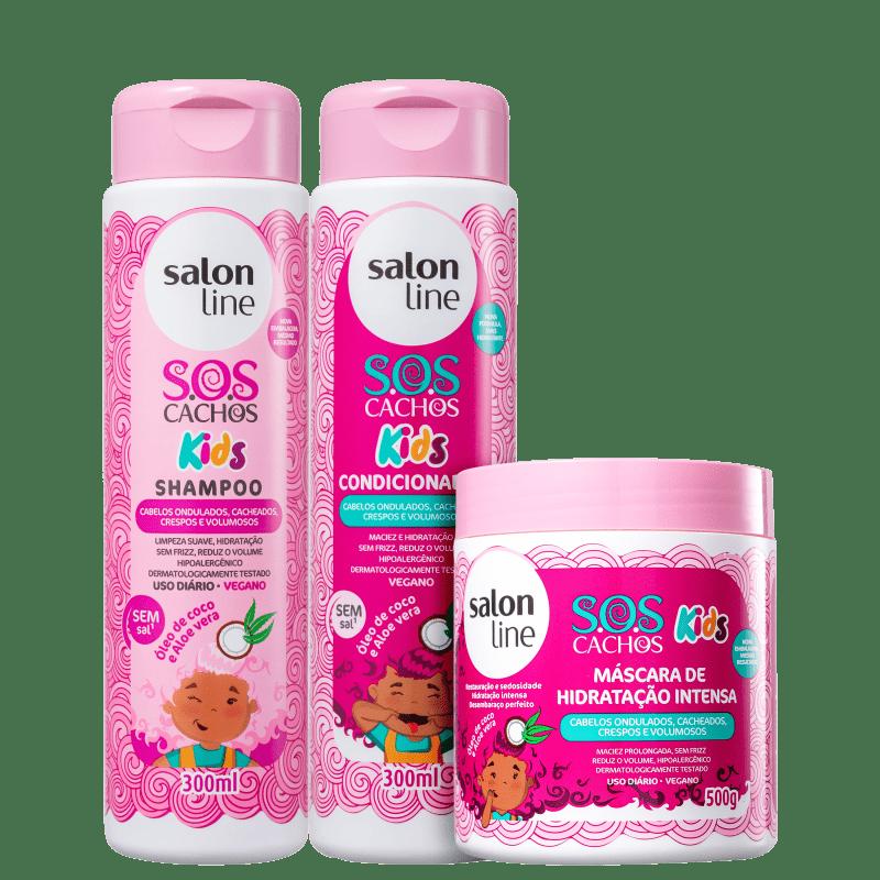 Kit Salon Line S.O.S Cachos Kids Trio (3 Produtos)