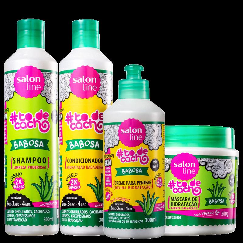 Kit Salon Line #Todecacho Babosa Plus (4 Produtos)