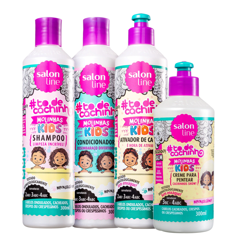 Kit Salon Line #todecachinho Kids Molinhas Full (4 Produtos)
