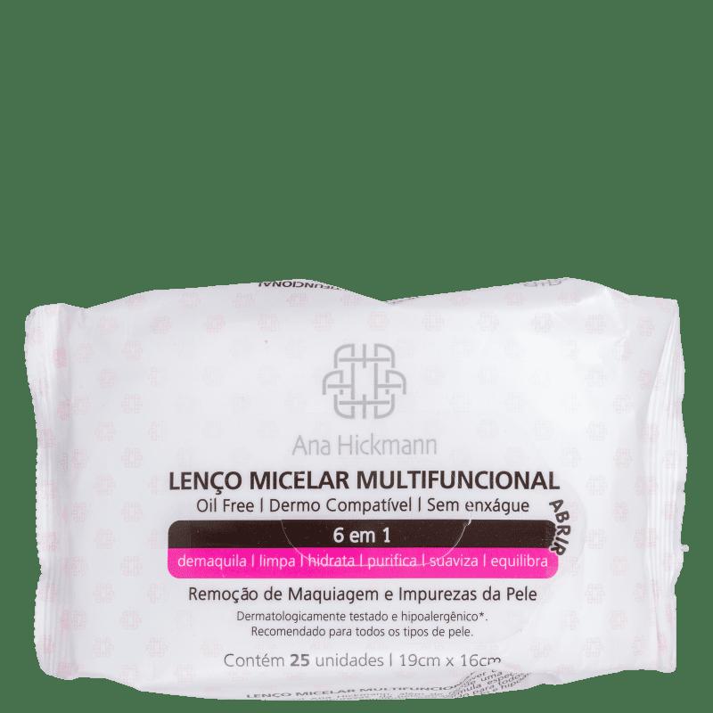 Lenço Demaquilante Ana Hickmann Beauty Micelar Multifuncional 6 em 1 25g