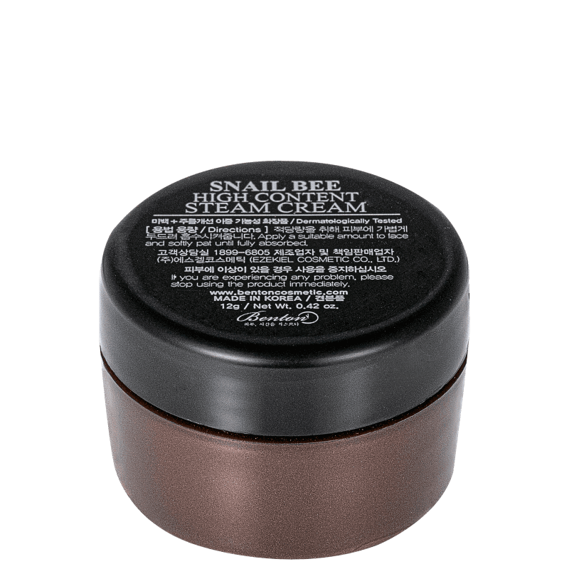 Benton Snail Bee High Content Steam Cream - Creme Hidratante Facial 12g