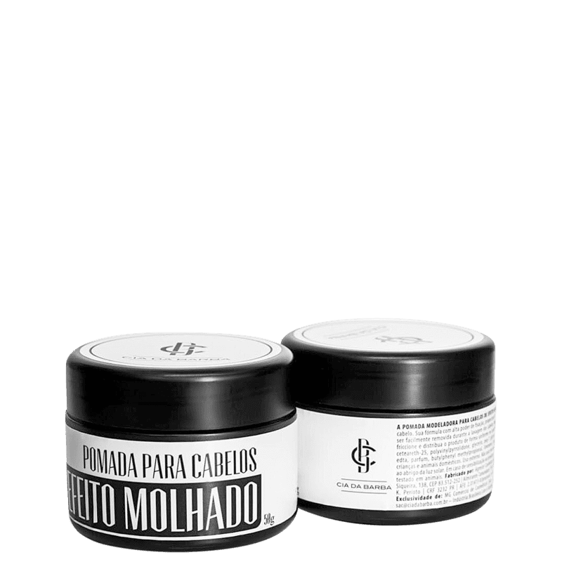 Cia da Barba Efeito Molhado - Pomada Modeladora 50g