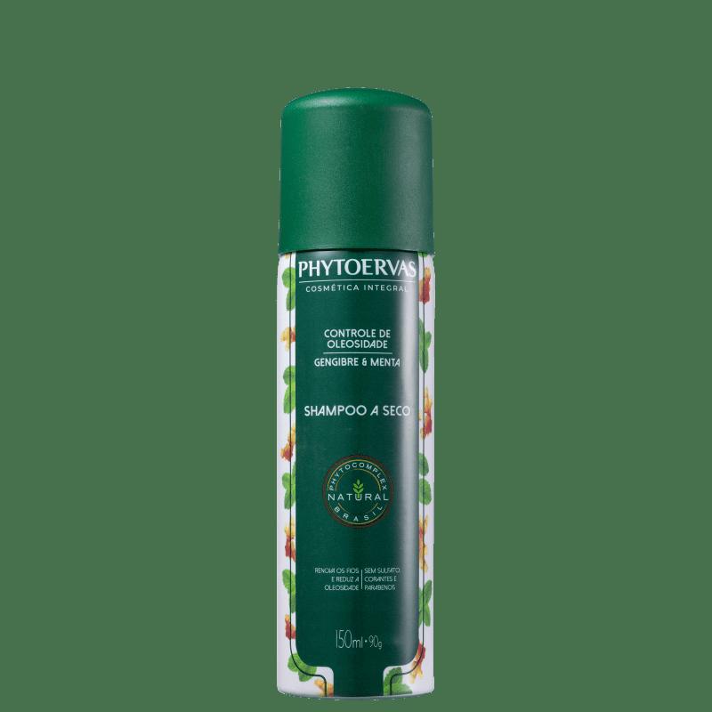 Phytoervas Controle de Oleosidade Gengibre e Menta - Shampoo a Seco 150ml