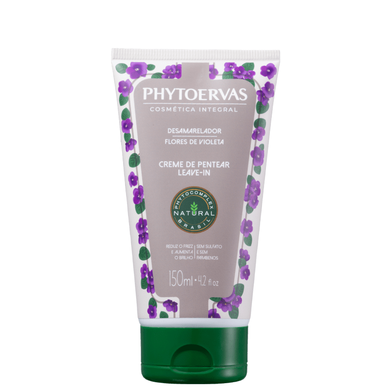 Phytoervas Desamarelador Flores de Violeta - Creme para Pentear 150ml
