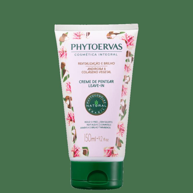 Phytoervas Revitalização e Brilho Andiroba e Colágeno Vegetal - Creme para Pentear 150ml