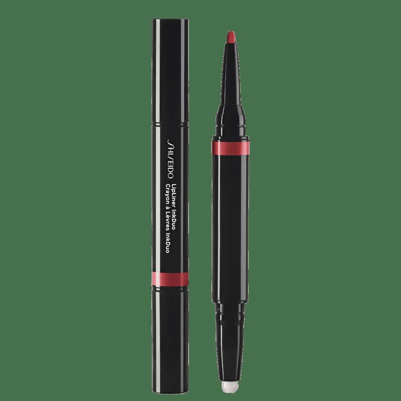Shiseido Lipliner InkDuo Primer 09 Scarlet - Lápis de Boca 0,9g