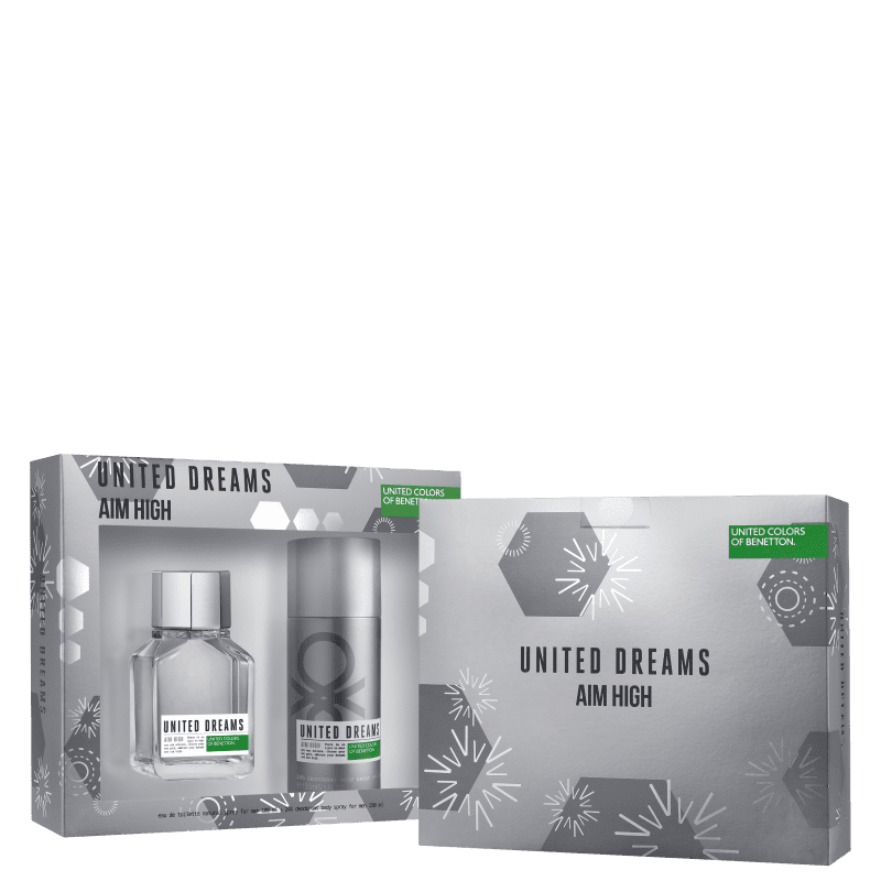 Conjunto United Dreams Aim High Benetton - Eau de Toilette 100ml + Desodorante 150ml