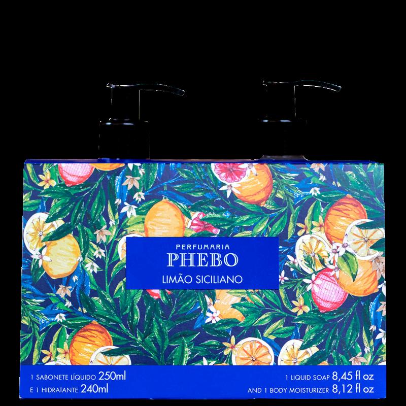 Kit Phebo Limão Siciliano Sabonete Líquido + Hidratante