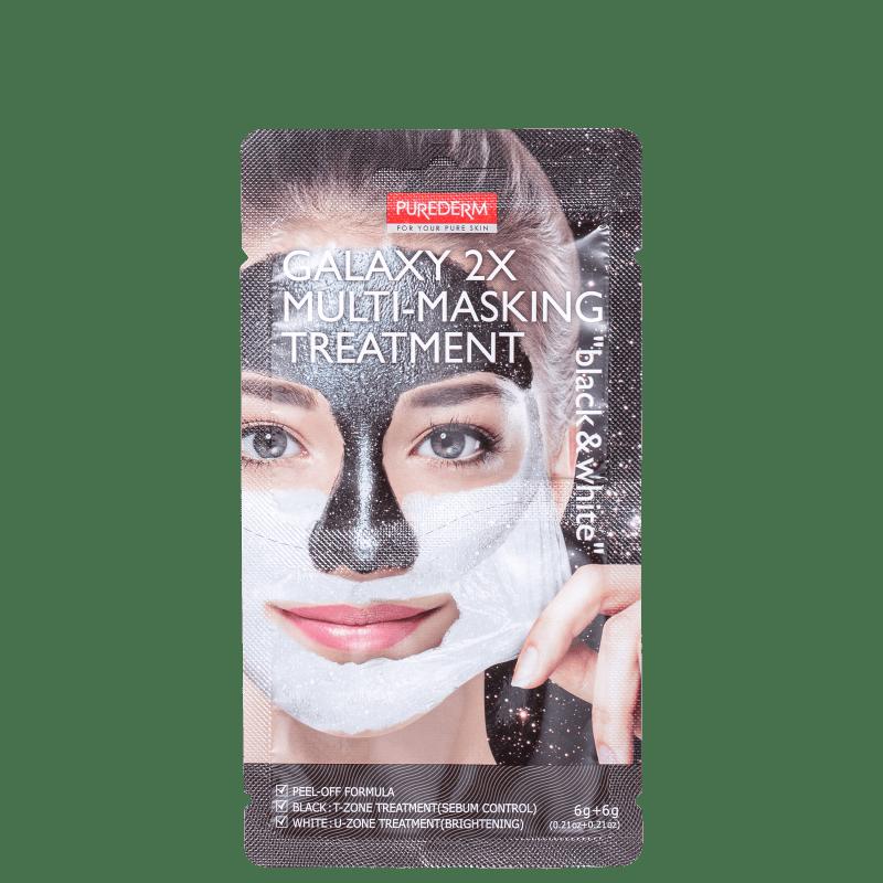 Purederm Galaxy 2X Black & White - Máscara Facial 12g