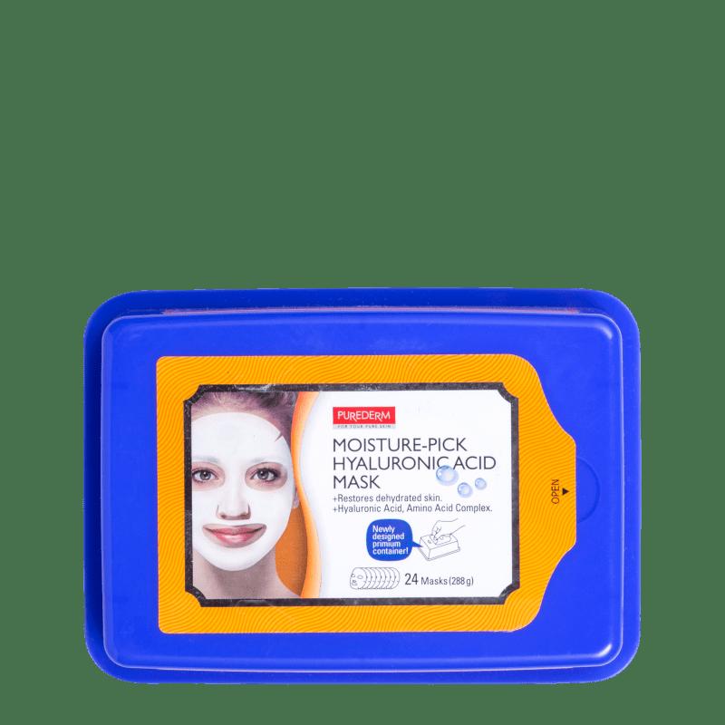 Purederm Moisture-Pick Hyaluronic Acid Mask - Máscara Facial (24 Unidades)