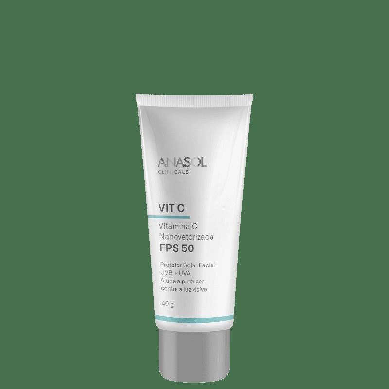 Anasol Clinicals Vit C FPS 50 - Protetor Solar Facial 40g